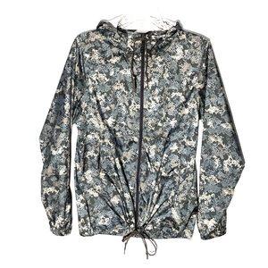 Columbia hooded full zip wind breaker jacket camo